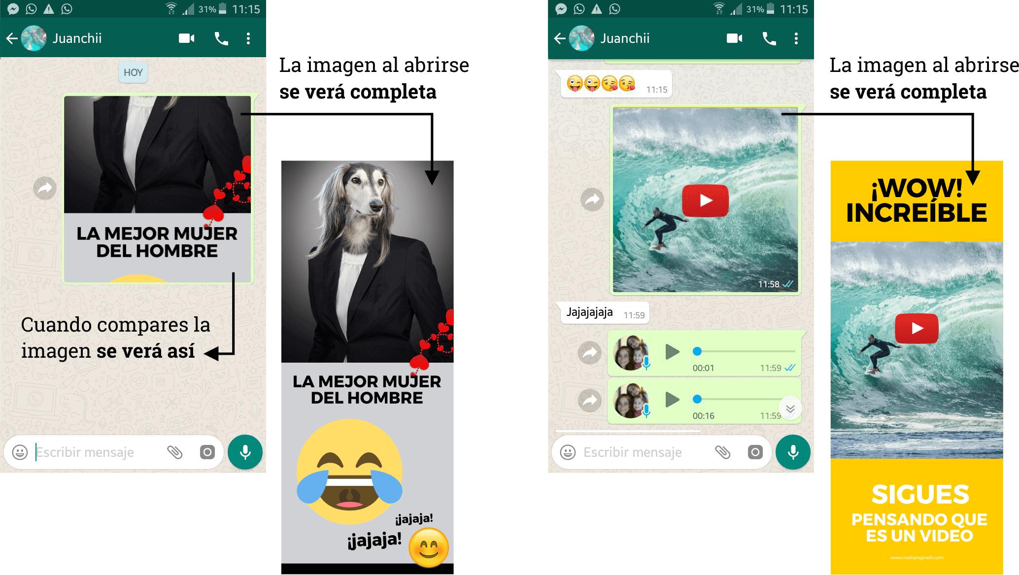 como crear imagenes para whatsapp