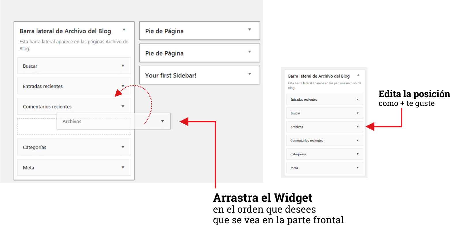 Insertar Widget en WordPress